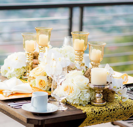 Low and Lush Centerpiece